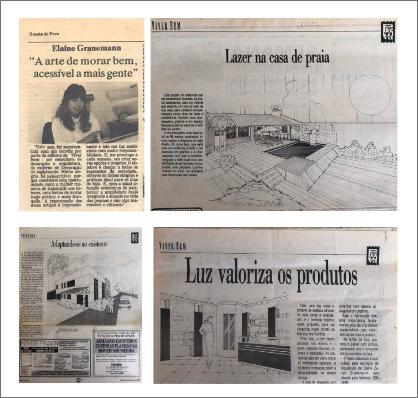 Publicação de mais de 500 projetos de arquitetura no jornalGazeta do Povo.