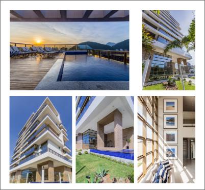 Inauguração do Edifício Carmel no litoral. Projeto residencial de alto padrão de arquitetura e interiores inovadores.